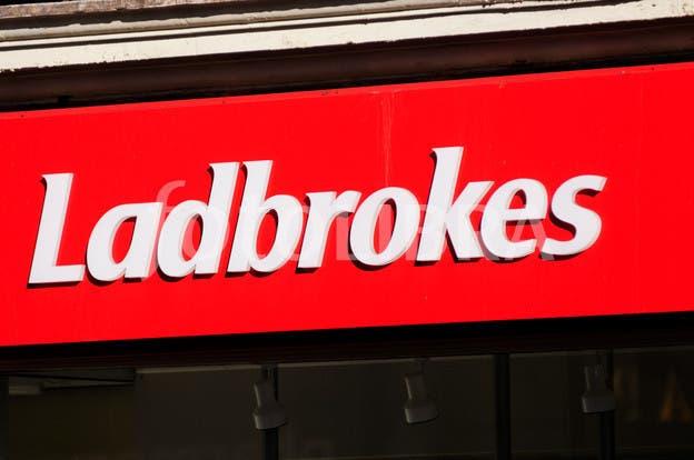 Ladbrokes betting shop sign