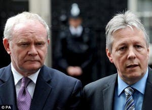 First Minister Peter Robinson (right) and Deputy First Minister Martin McGuinness.