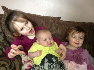 The Faulkner children who were rescued after becoming trapped.