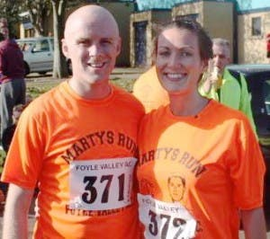 Seamus and FIona pictured before competing in Marty's Run.