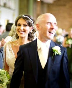 Seamus and Fiona on their wedding day on 1 June last year.