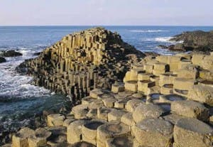 The Giants Causeway where the two women had been visiting.