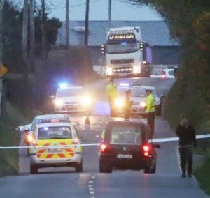Emergency services at the scene of the fatal crash. North West Newspix