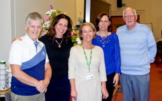 """Attendees at the  """"Living with and Beyond Prostate Cancer"""" event in Altnagelvin Hospital."""