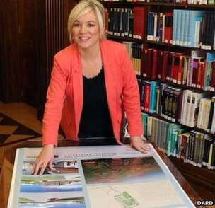 Sinn Fein Agriculture Minister Michelle O'Neill unveils plans for new DARD HQ in Ballykelly