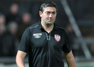 Derry City manager Peter Hutton is under pressure.