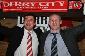 Paul Hegarty (right) back as assistant manager at Derry City
