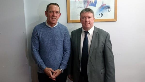 Derry City manager Kenny Shiels with club chairman Philip O'Doherty