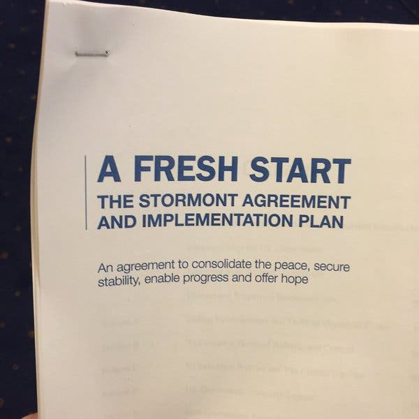 The Stormont House Agreement A Fresh Start For The North Derry Daily