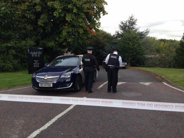 Police cordon off the scene around the Waterfoot Hotel last year after a bomb was found