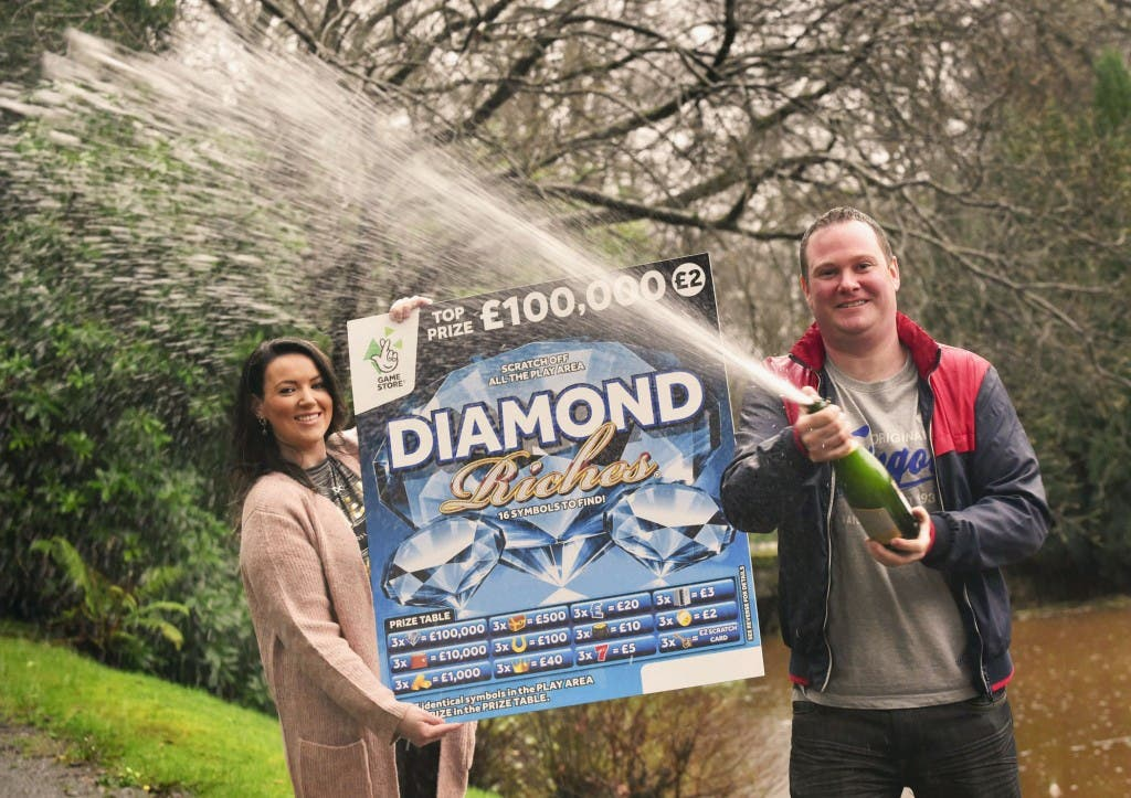 A shopping trip for charity turned into a Christmas that Derry housewife Stephanie Harkin (28) and her husband, Kieran (33), will never forget after winning £100k on a Diamond Riches Scratchcard from National Lottery GameStore. ""