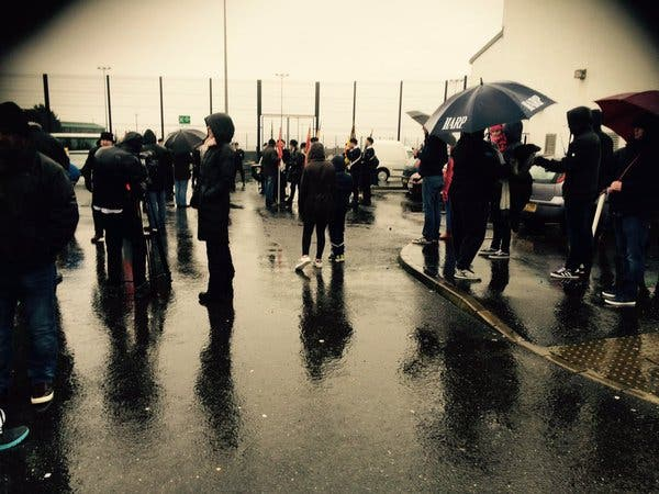 Crowds braving the rain for today's 44th anniversary Bloody Sunday march