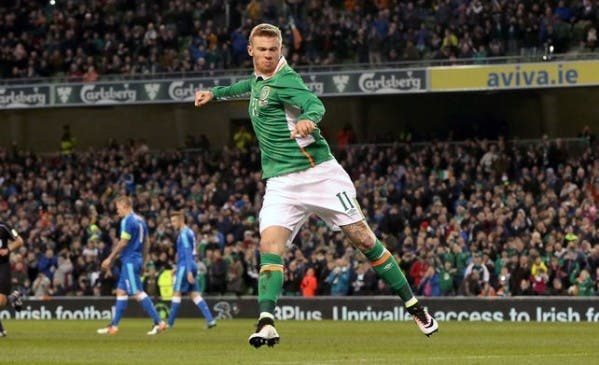 James McClean dipatches his penalty which in the end helped Ireland to a 2-2 draw with Slovakia