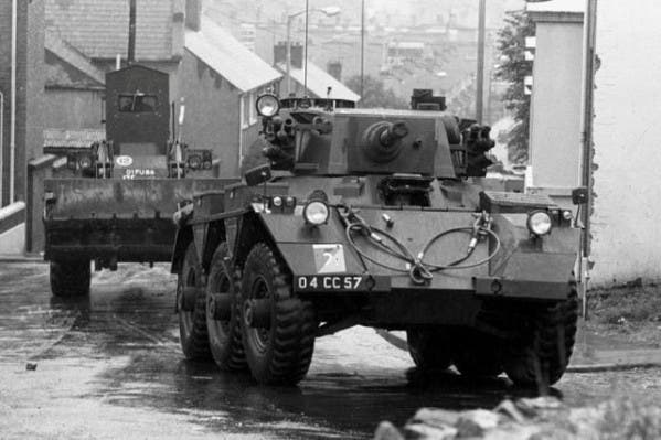 British Army's Operation Motorman in July 1972 in Derry