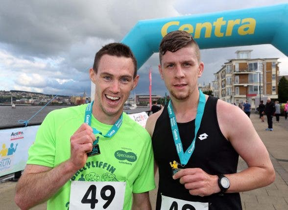 Centra Run Together race winners Johnny Canning and Stephen Connor.