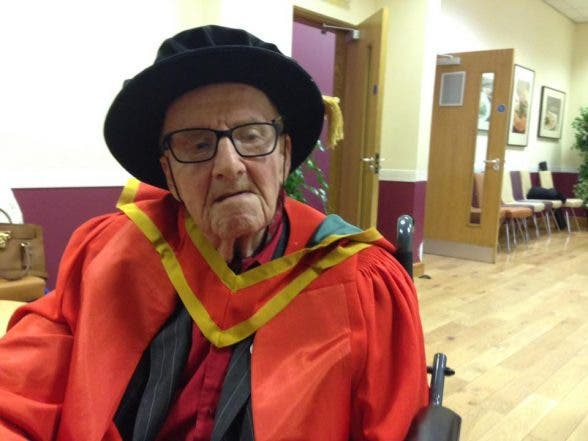 Veteran civil rights activist Ivan Cooper received his honorary Doctor in Law