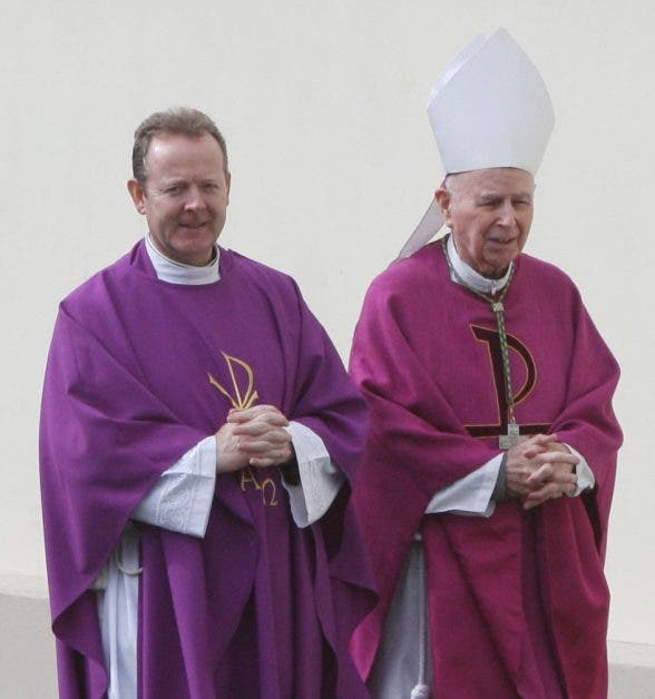 Archbishop Eamonn Martin with former Bishop of Derry, Rev Fr Daly.
