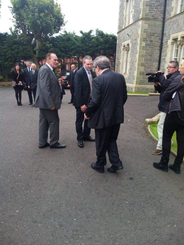 Former SDLP leader John Hume arrives this afternoon for funeral of Bishop Edward Daly