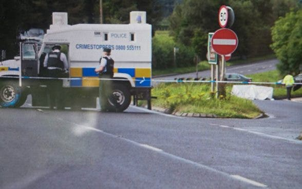 The scene of the crash on the main Derry to Limavady Road on Sunday morning