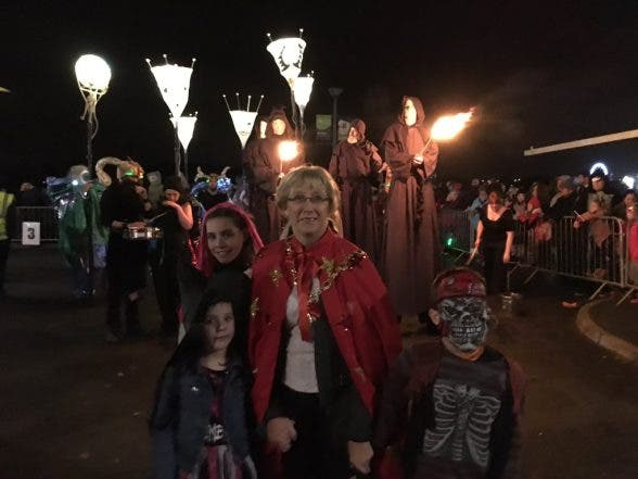 Derry Mayor Hilary McClintock enjoying the Hallowe'en celebrations